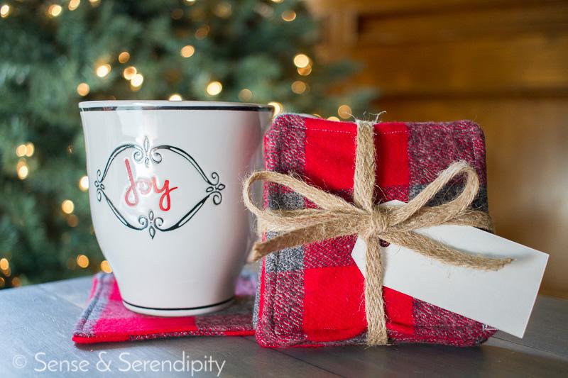 Festive Flannel Coasters Tutorial | Sense & Serendipity