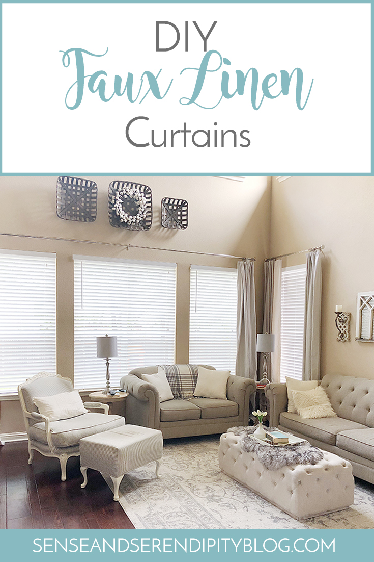DIY Faux Linen Curtains | Sense & Serendipity
