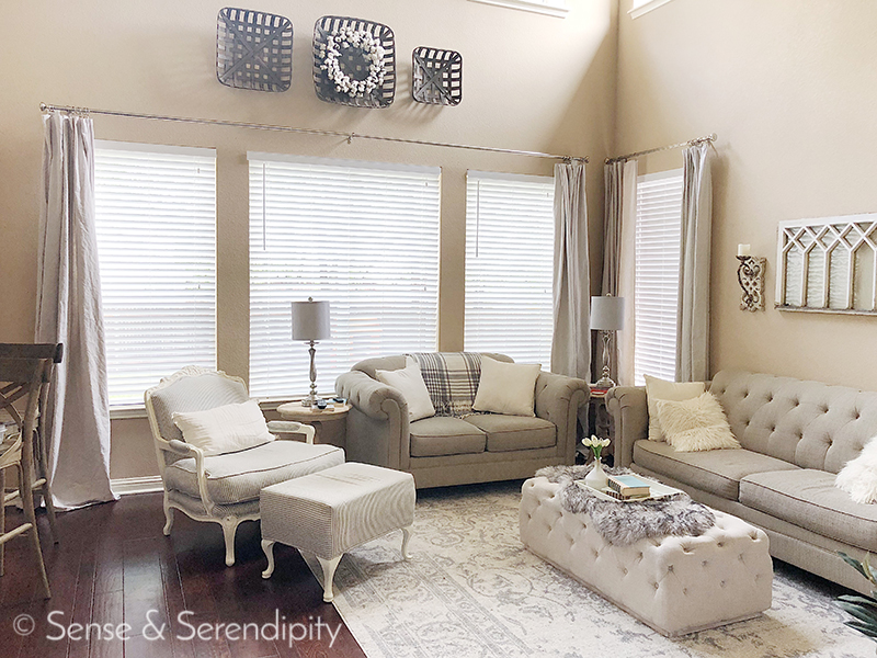 DIY Faux Linen Curtains | Sense & Serendipity
