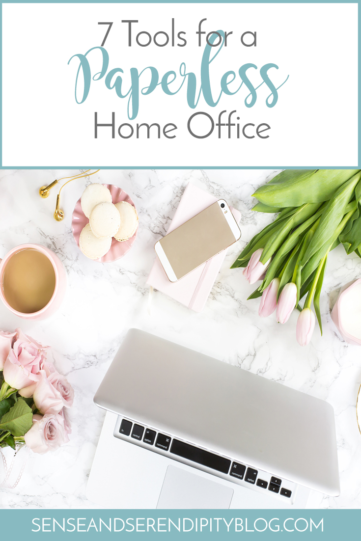 7 Tools for a Paperless Home Office | Sense & Serendipity