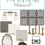 French Country Inspired Powder Room Makeover