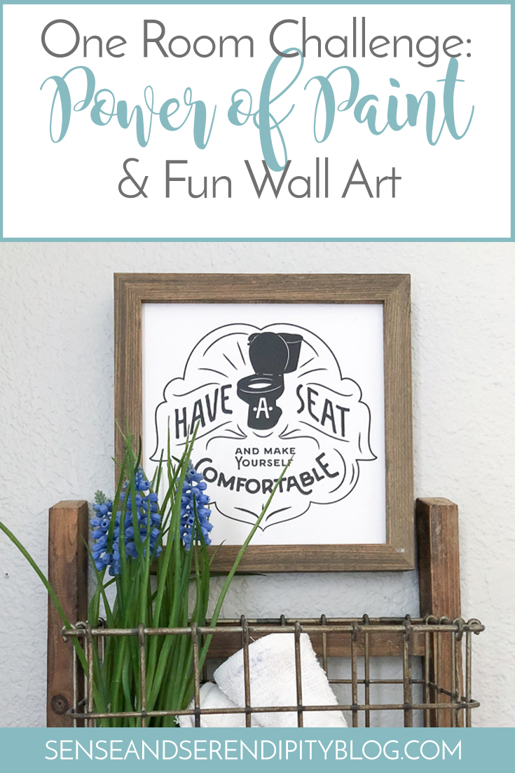 One Room Challenge: Power of Paint and Fun Wall Art | Sense & Serendipity