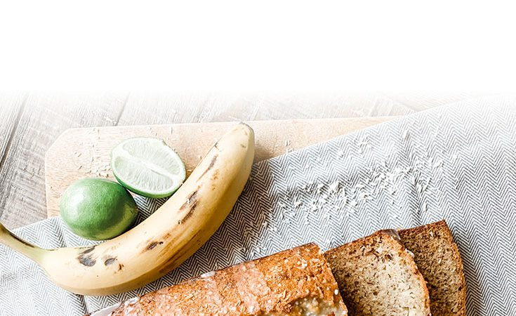 Coconut & Rum Banana Bread with Lime Glaze