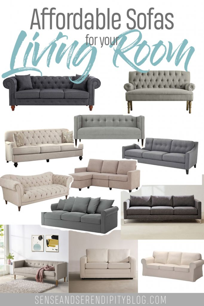 Affordable Sofas for Your Living Room | Sense & Serendipity