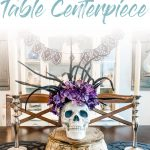 DIY Halloween Skull Table Centerpiece