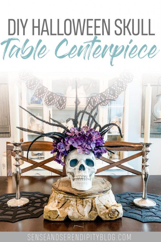 DIY Halloween Skull Centerpiece | Sense & Serendipity