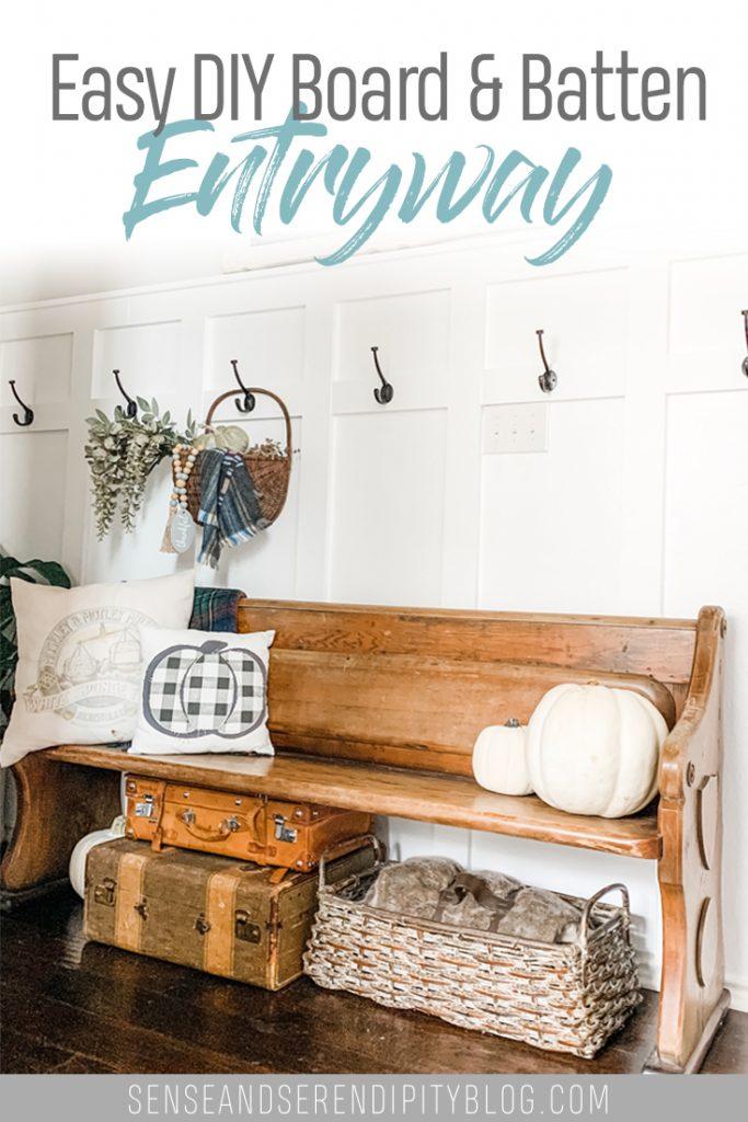 DIY Board and Batten Entryway | Sense & Serendipity