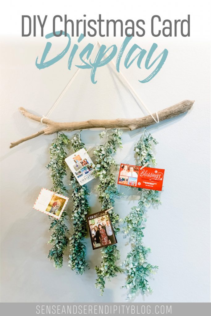 DIY Christmas Card Display, Christmas card hanger, Christmas card holder, DIY Christmas decor