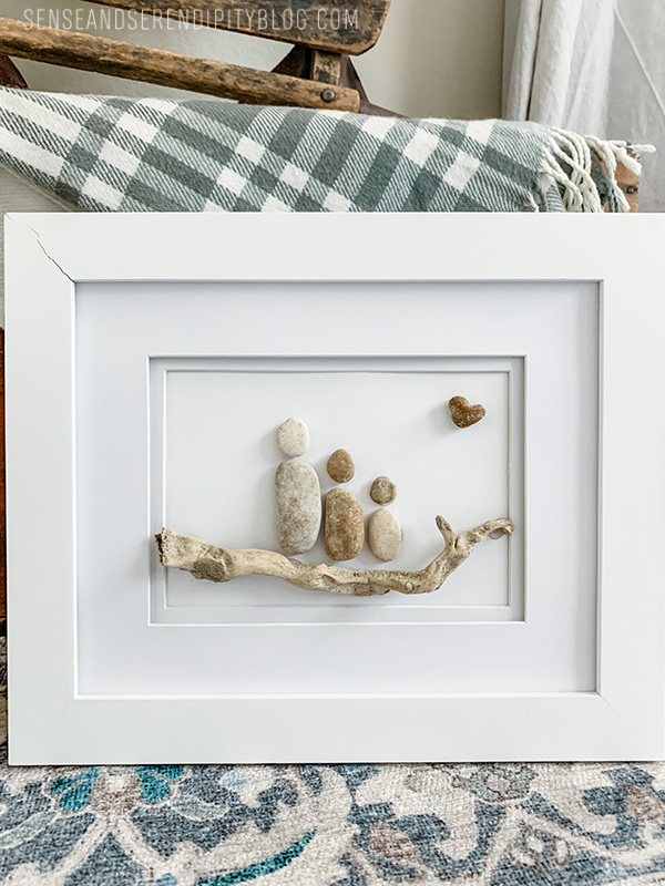 DIY Pebble Family Portrait Art | Sense & Serendipity
