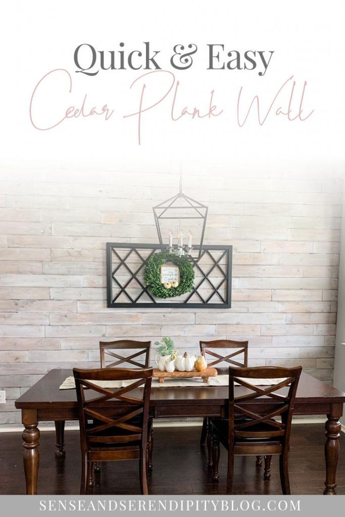DIY cedar plank wall tutorial