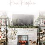 DIY Farmhouse Faux Fireplace